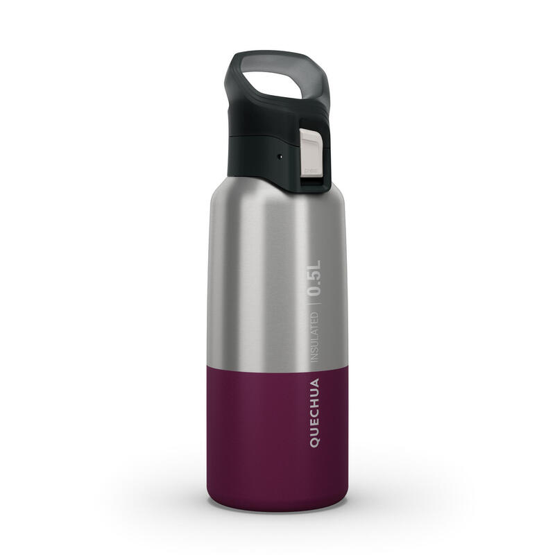 Gourde MH500 isotherme randonnée inox 0,5L violet