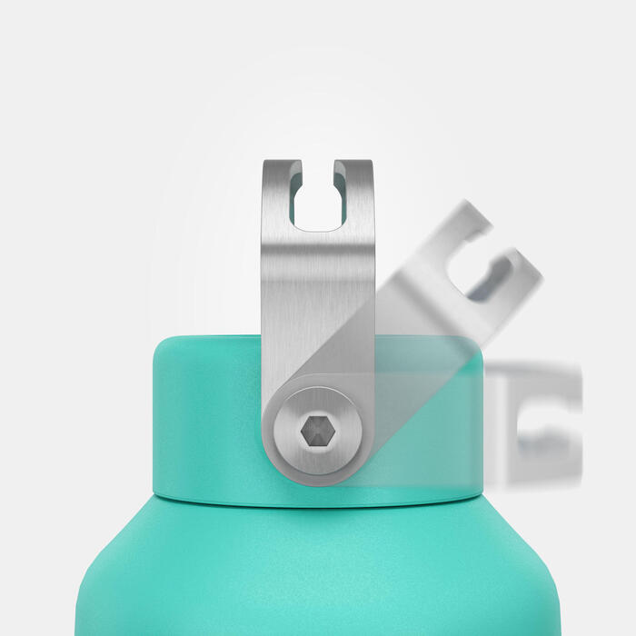 Stainless Steel Hiking Flask with Screw Cap MH100 1 L Turquoise