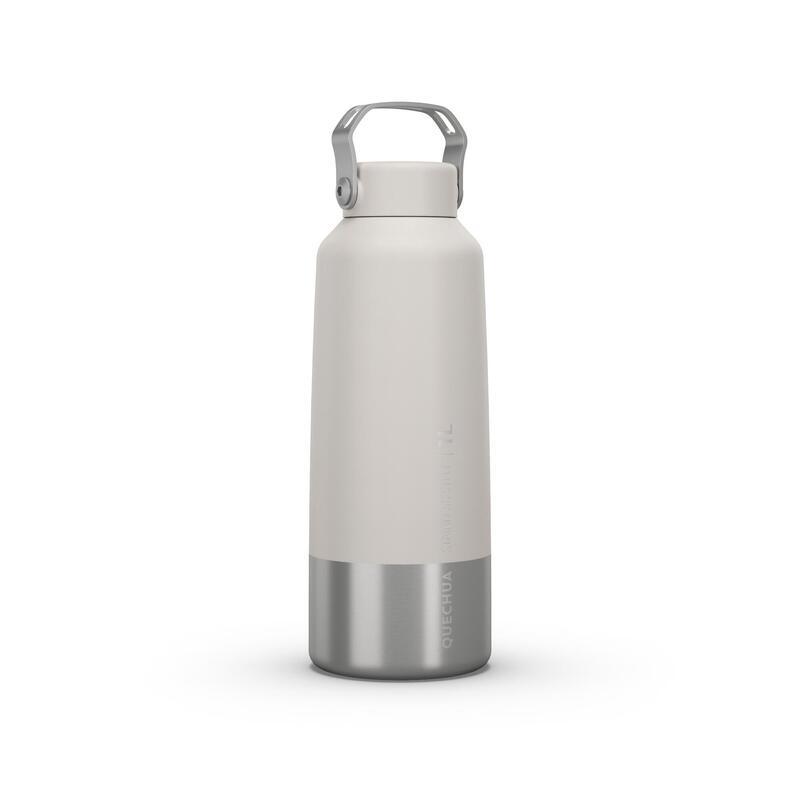 Cantil de caminhada MH100 tampa de enroscar 1L aço inoxidável branco