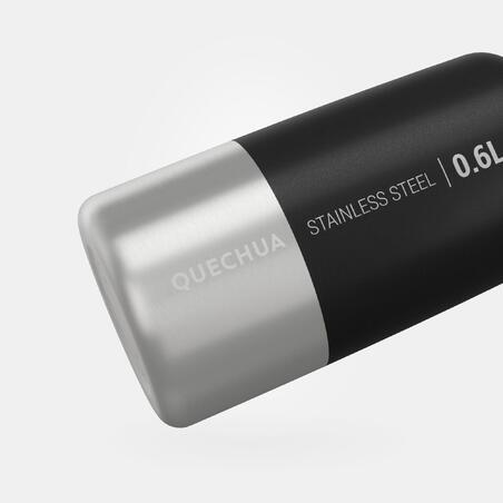 Bidón senderismo MH100 tapón de rosca 0,6L inox negro