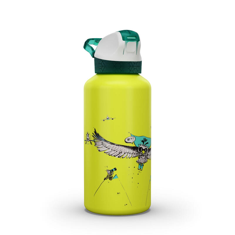 Kids' Alu Hiking Water Bottle 900 0.6 Litre Vulture Limited Edition - Yellow