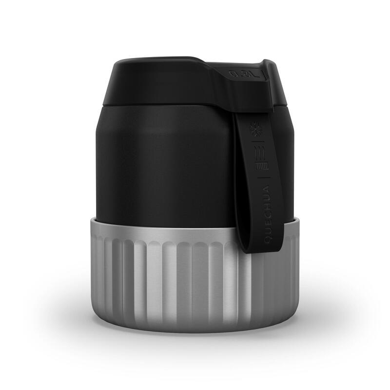 Boîte alimentaire MH500 isotherme randonnée inox 0,8L noir avec bol