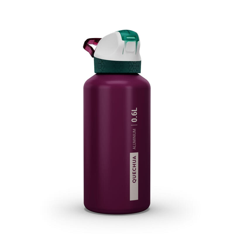 Cantimpl. senderismo 900 tapón apertura instantánea pipeta 0,6L aluminio violeta