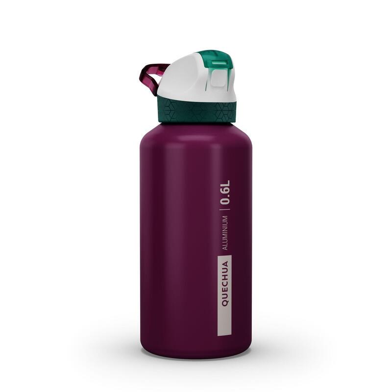 Gourde randonnée 900 bouchon instantané avec pipette 0,6 litre aluminium violet