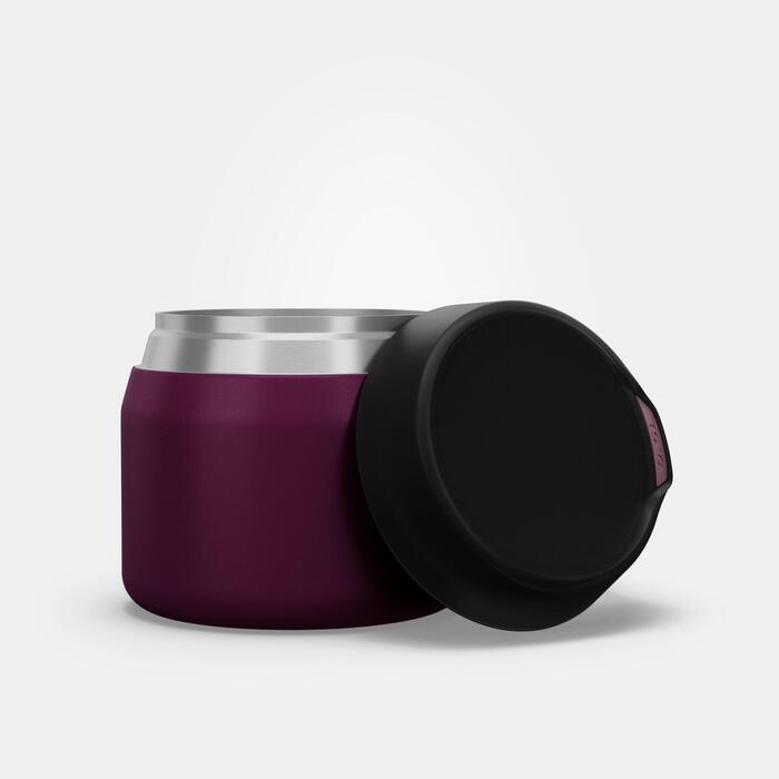 Boîte alimentaire MH500 isotherme randonnée inox 0,5L violet