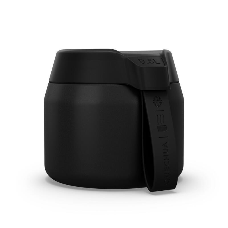 Fiambrera MH500 isotérmica senderismo acero inoxidable 0,5L negro