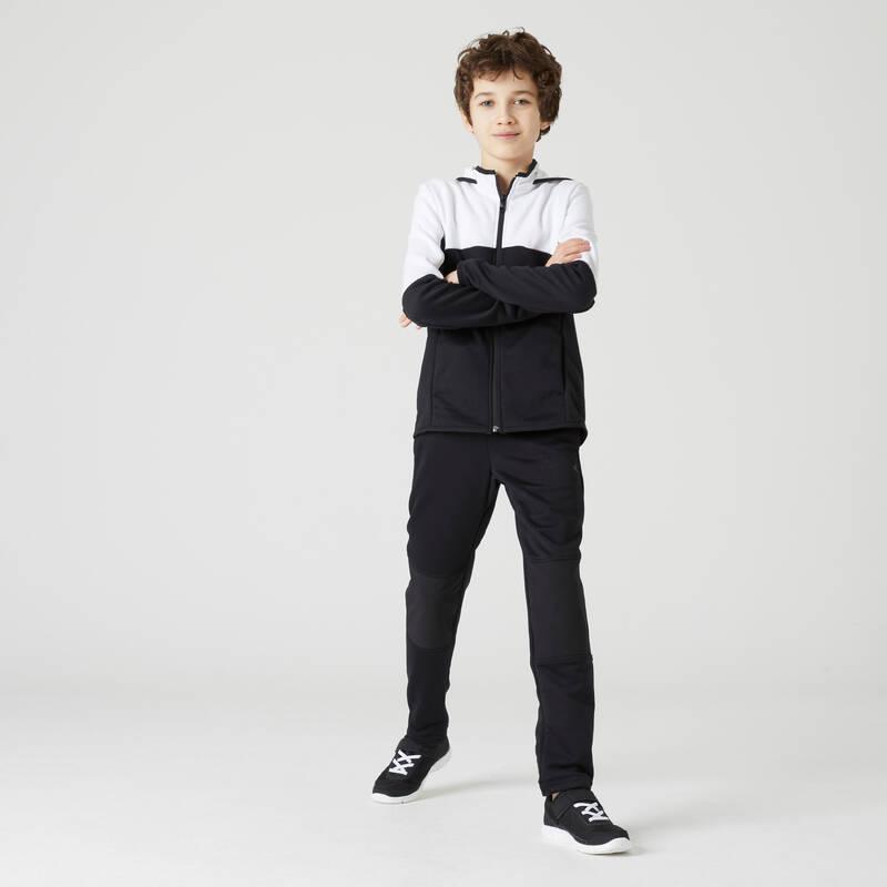 CHLAPECKÉ/PÁNSKÉ SOUPRAVY NA CVIČENÍ Cvičení pro děti - CHLAPECKÁ SOUPRAVA S500 BÍLÁ DOMYOS - Dětské oblečení na cvičení