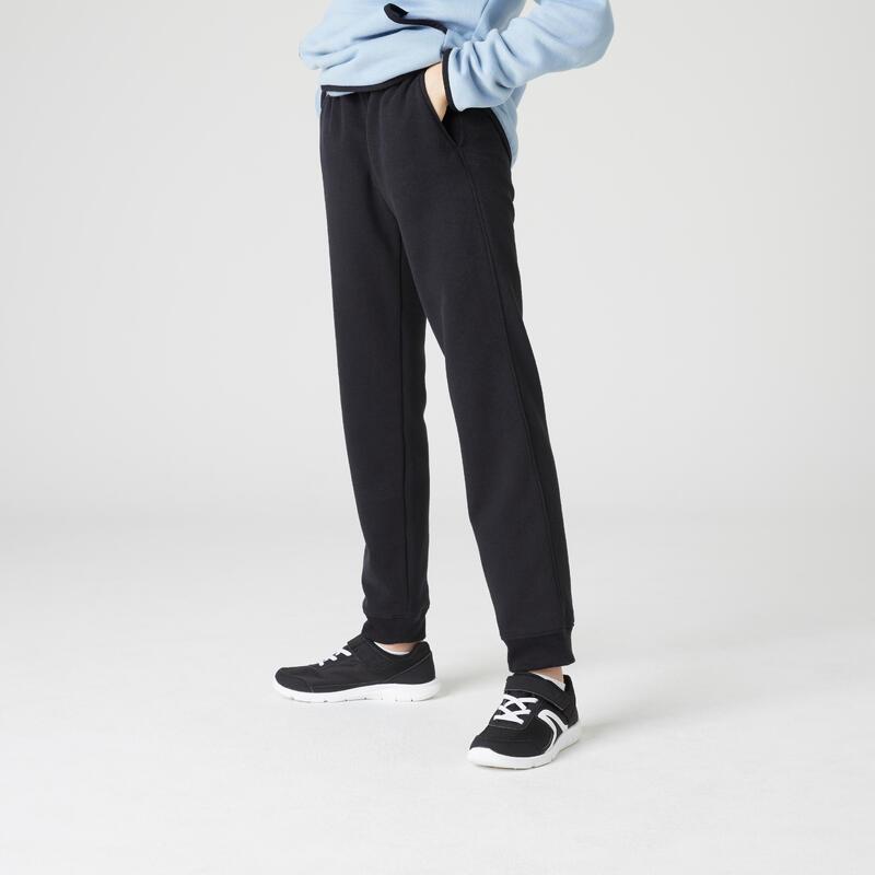 Pantalon de jogging basique à poches noir ENFANT