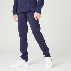 Pantalon de jogging poches zippées marine ENFANT