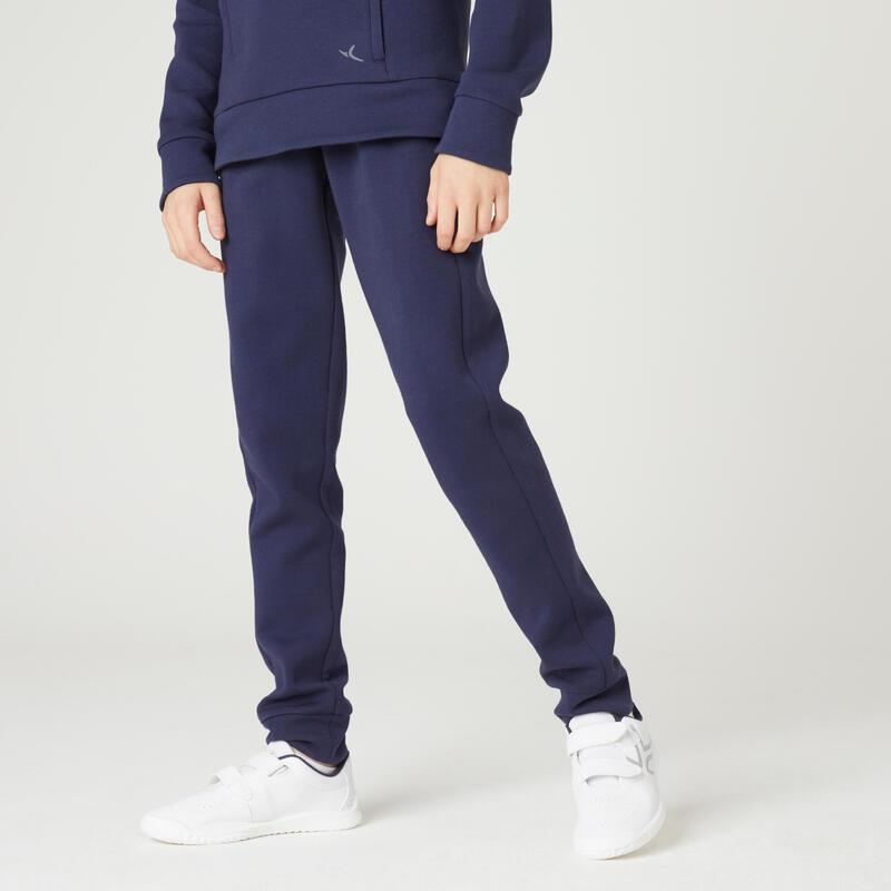 Pantalon de jogging respirant poches zippées enfant marine