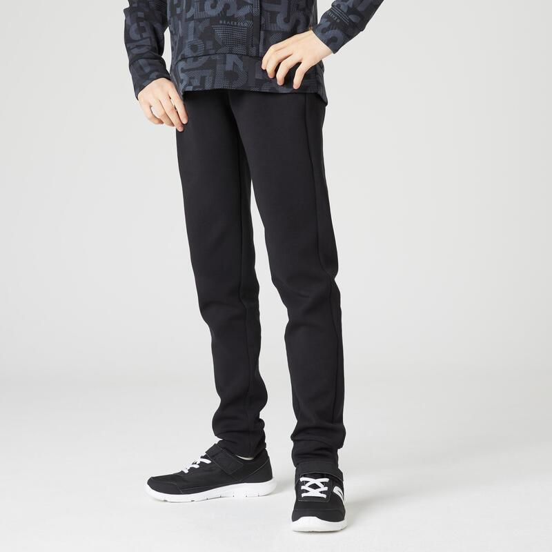 Pantalón jogger bolsillos con cremallera negro estampado niños