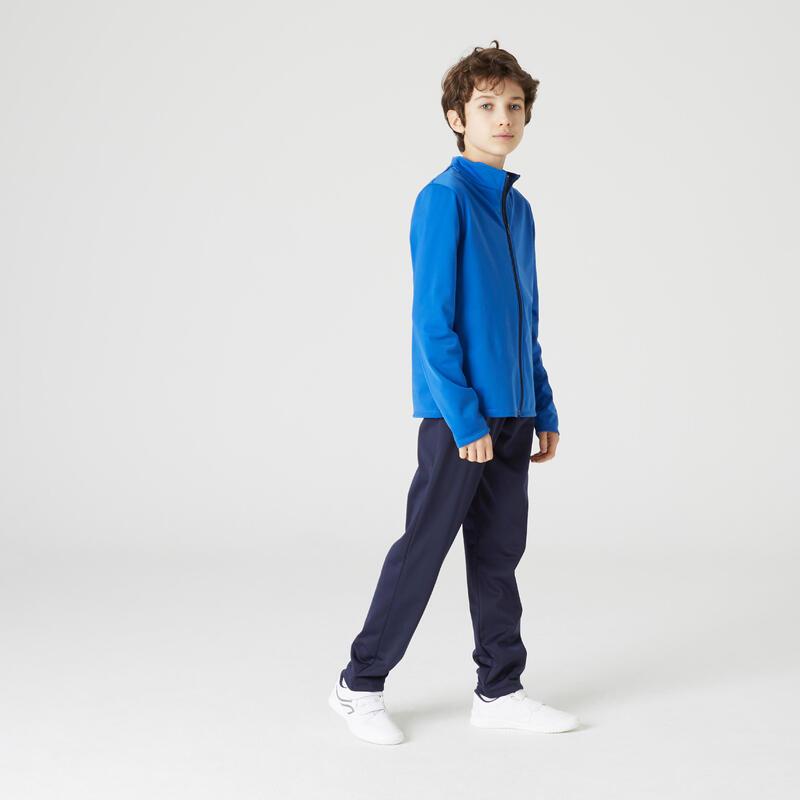 Survêtement basique synthétique chaud Gym'y bleu, pantalon marine enfant