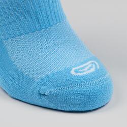 Chaussettes enfant d'athlétisme lot de 2 AT 500 invisible blanches et bleues