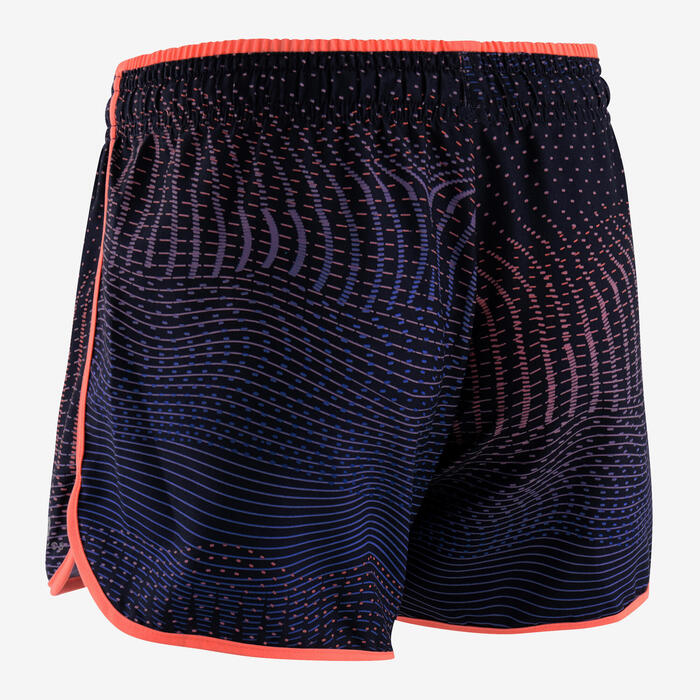 Shorts Synthetik atmungsaktiv Kinder blau/koralle mit Print