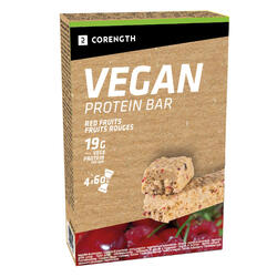 PACK DE 4 BARRES DE PROTEINE VEGAN FRUITS ROUGES