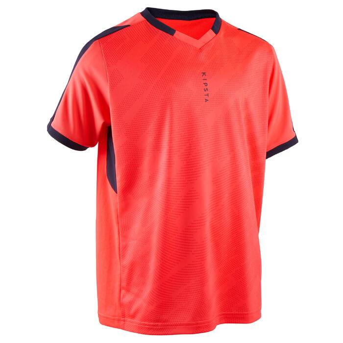 Kids' Short-Sleeved Football Shirt F520 - Neon Pink