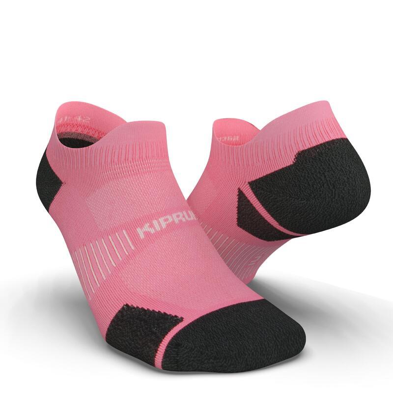 Dunne onzichtbare hardloopsokken Run900 roze