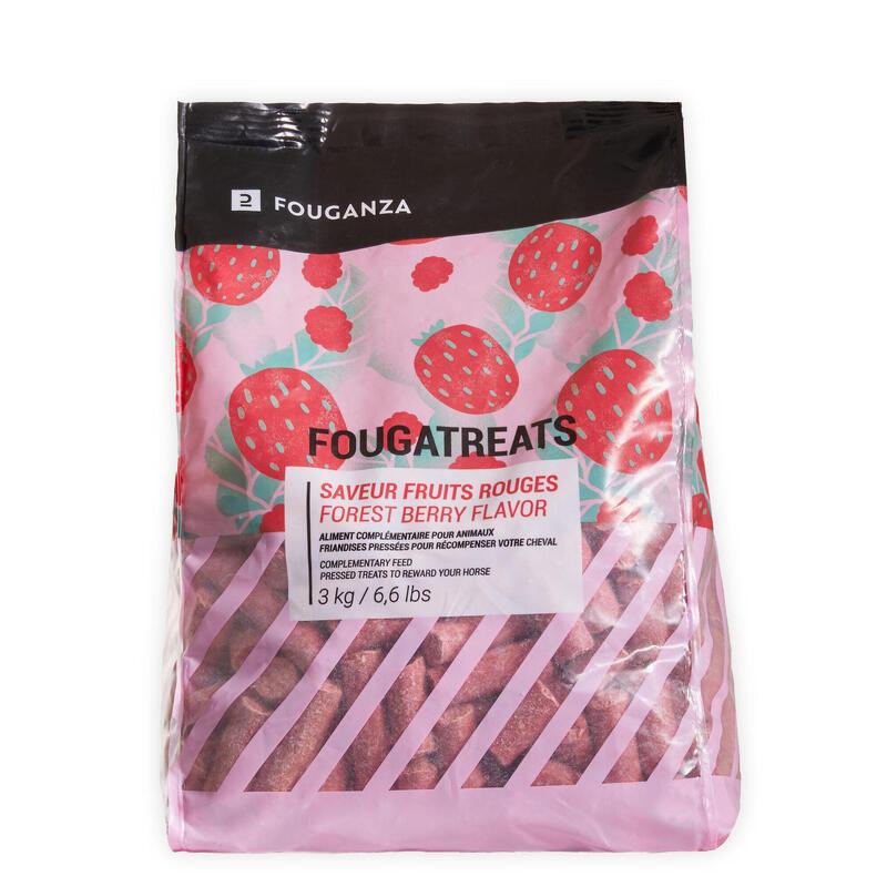 Golosinas Equitación Caballo/Poni Fougatreats Frutos Rojos - 3 kg