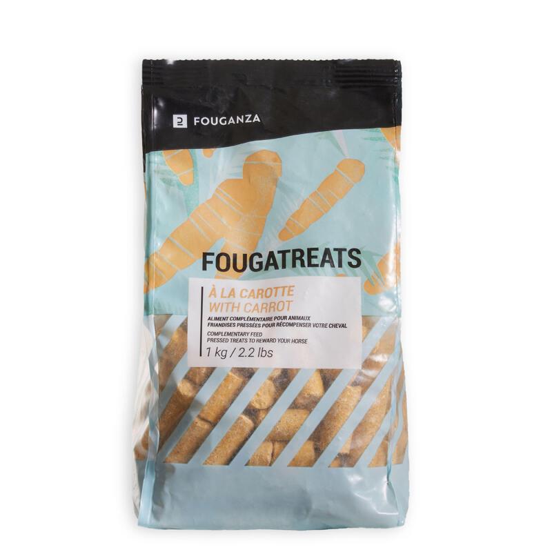 Snoepjes ruitersport paard en pony Fougatreats wortel - 1 kg