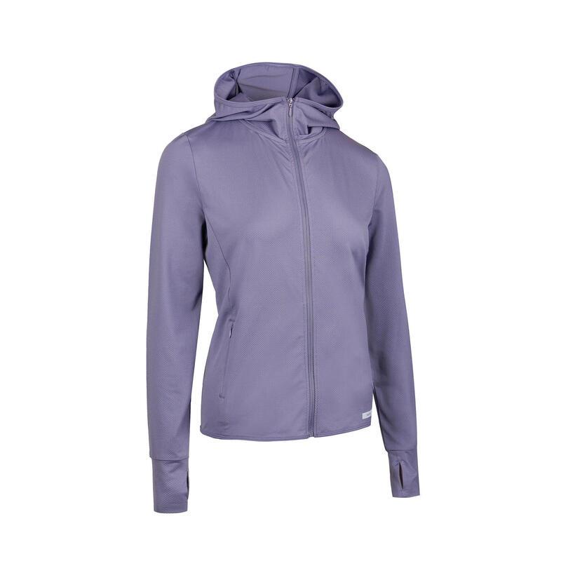 防曬跑步連帽外套-藍色
