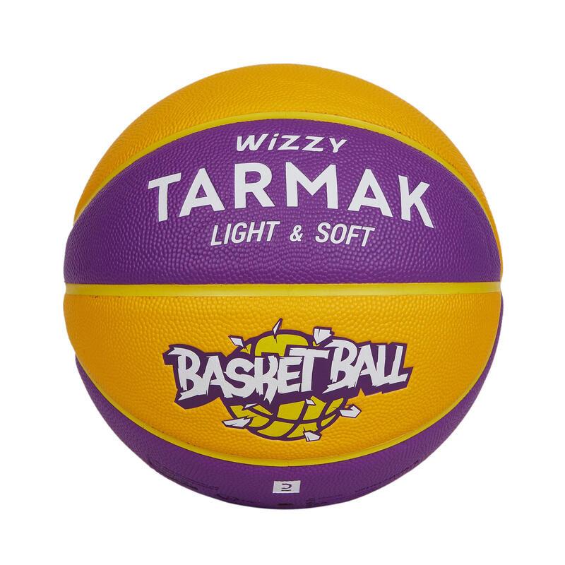 兒童款5號籃球(10歲以下)Wizzy - 黃紫配色