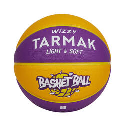 Wizzy Kids' Size 5 (Up to 10 Years) Basketball 18% Lighter - Yellow/Purple