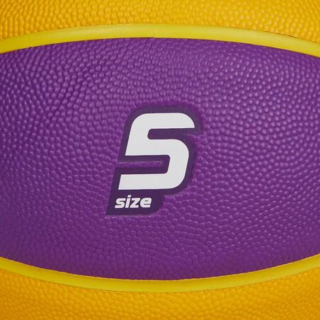 Anak Ukuran 5 (Sampai Usia 10 Tahun) Basketball Wizzy - Kuning/Ungu