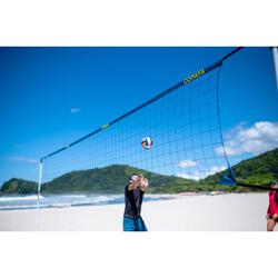 Beachvolleyballnetz Set BV500 6 m blau
