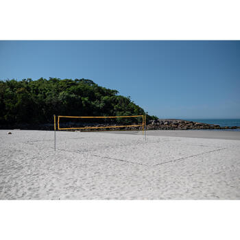 Beach Volley Ball Set - Official Dimensions - BV900 Yellow