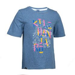女童T恤MH100 - 藍色