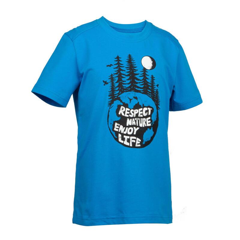 男童款T恤MH100 (7到15歲)-藍色