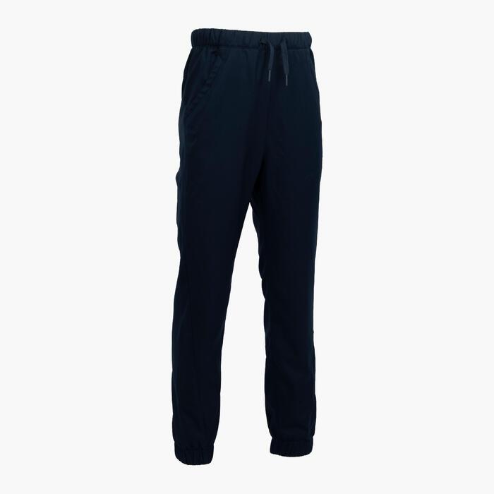 女童款長褲MH100 TWEEN-軍藍色