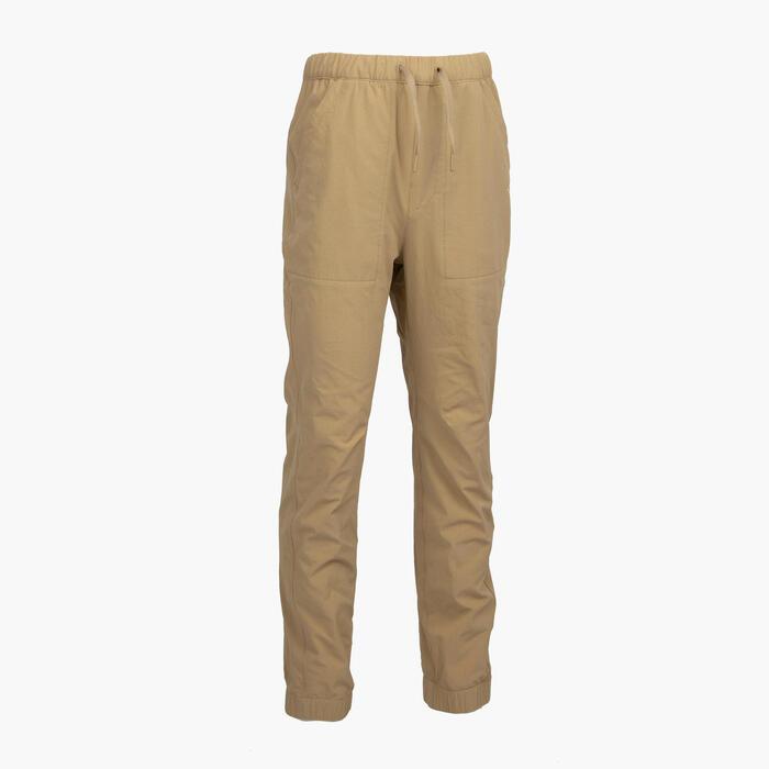 男童款長褲MH100 TWEEN-米色