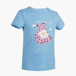 女童款T恤MH100-藍色