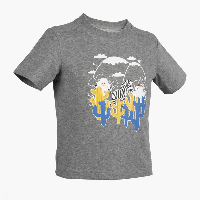 Kids' Hiking T-Shirt - MH100 Aged 2-6 - Grey