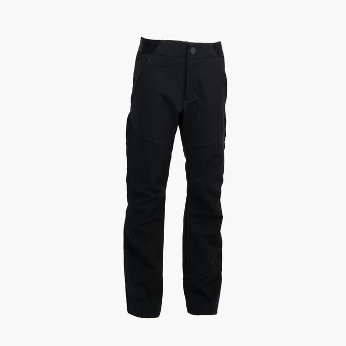 兒童款健行長褲MH550-MH550 7到15歲-黑色