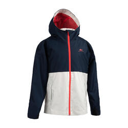 Kids' Waterproof Hiking Jacket - MH500 Aged 7-15 - Navy Pink
