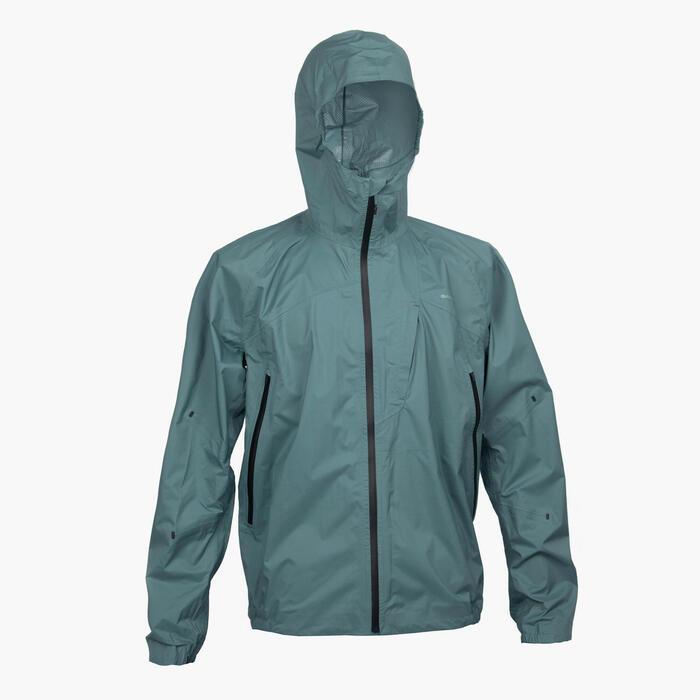 Men's Waterproof Jacket FH 500 - Green