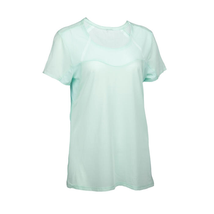 Women's Fast Hiking Short-Sleeved T-Shirt FH500 Helium