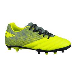 Rugbyschoenen met vaste noppen voor droog terrein kinderen R500 geel