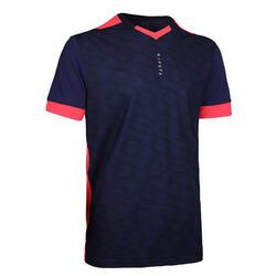 成人款足球短袖上衣F500 - 藍粉配色