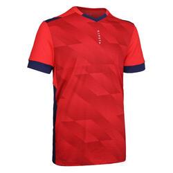 成人款足球上衣F500 - 紅藍配色