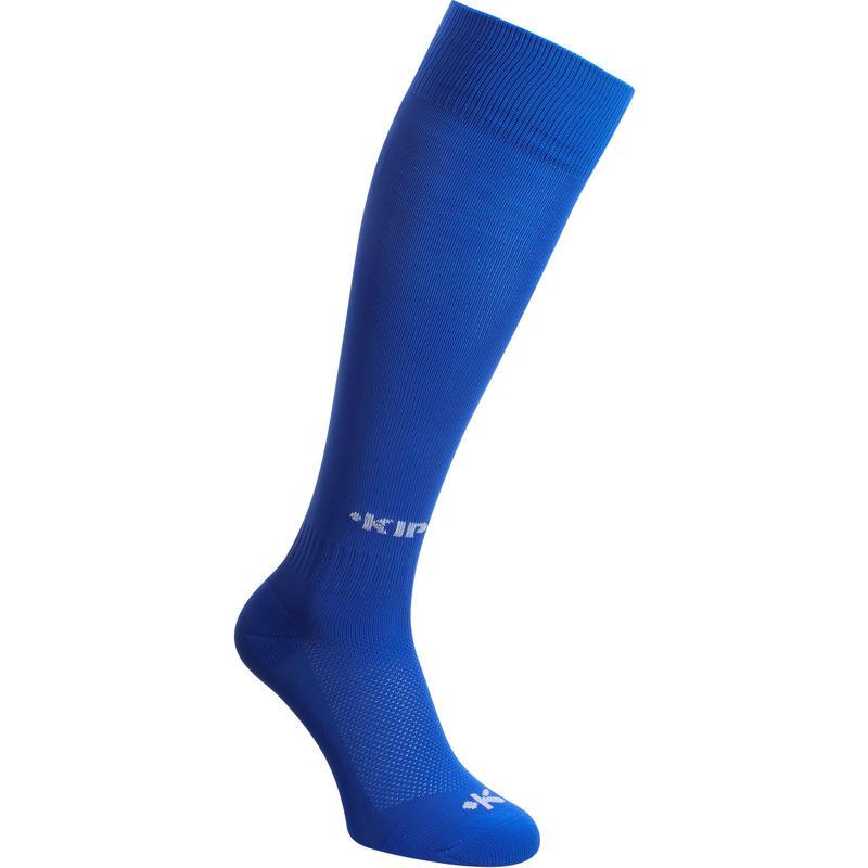 Bas de soccer enfant F100 bleu
