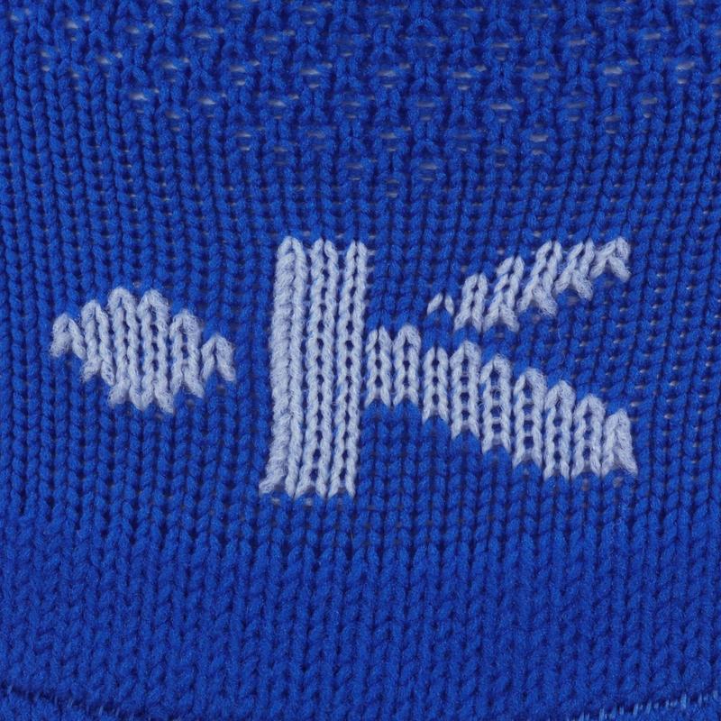 Chaussettes de football enfant F100 bleue