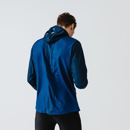 Run Wind Men's Running Wind Jacket - Prussian blue