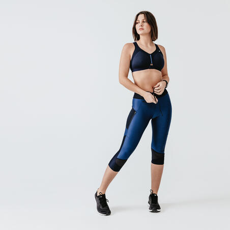 Zip Running Sports Bra