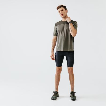 RUN DRY+ MEN'S RUNNING TIGHT SHORTS GREY