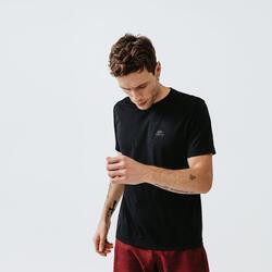 Ademend hardloop T-shirt voor heren Dry zwart