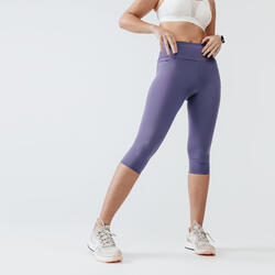 RUN SUPPORT WOMEN'S CROPPED LEGGINGS - FADED VIOLET