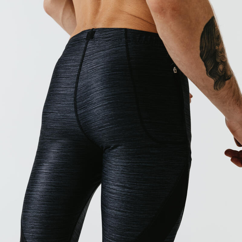 Run Dry + Men's Running Tight Shorts - Grey Abysses